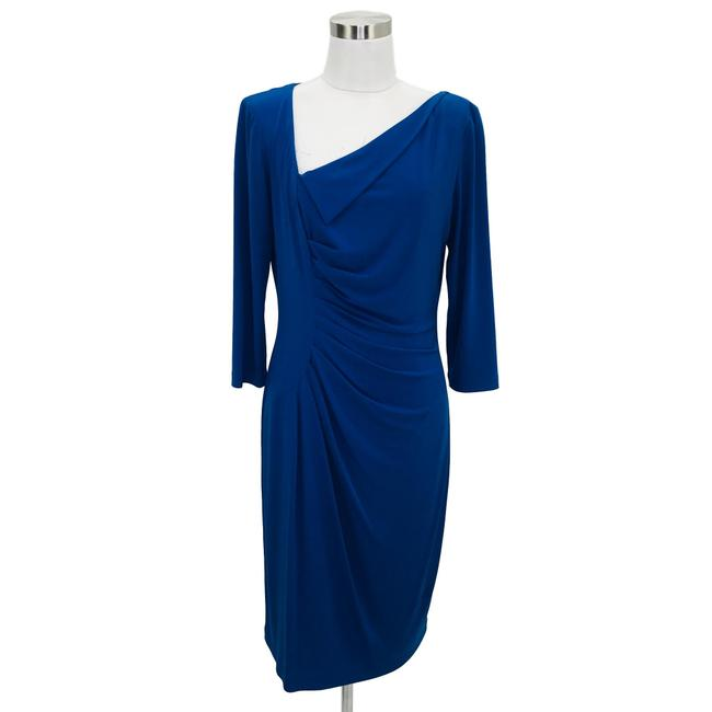 Item - Blue N1172 Designer Medium Bodycon Mid-length Formal Dress Size 8 (M)