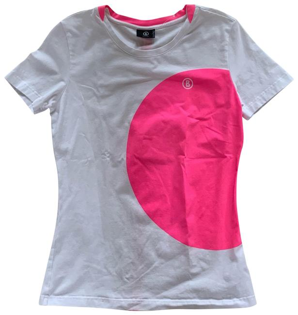 Item - Pink and White L Athletic 40 M/L Activewear Top Size 8 (M)
