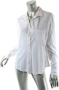 Frank & Eileen Very Fine Cotton Pique Button Down Shirt White