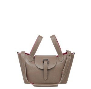 Meli Melo Satchel in elephant gray with lipsticks