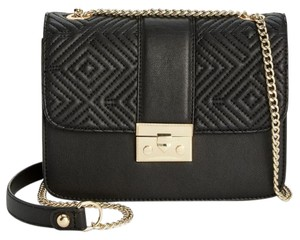 INC International Concepts Quilted Chain Leather Cross Body Bag