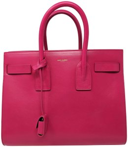 Saint Laurent Sacdejour Ysl Royalblue Small Tote in Pink