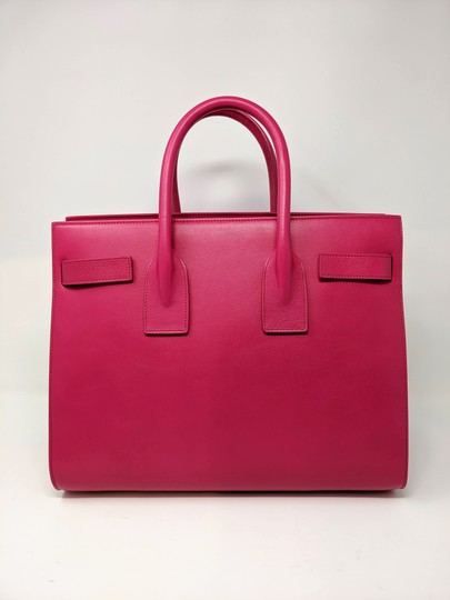 Saint Laurent Sacdejour Ysl Royalblue Small Tote in Pink Image 1
