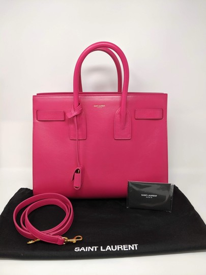 Saint Laurent Sacdejour Ysl Royalblue Small Tote in Pink Image 3