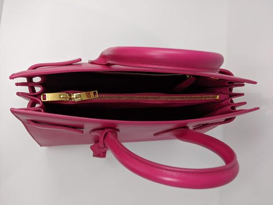 Saint Laurent Sacdejour Ysl Royalblue Small Tote in Pink Image 4