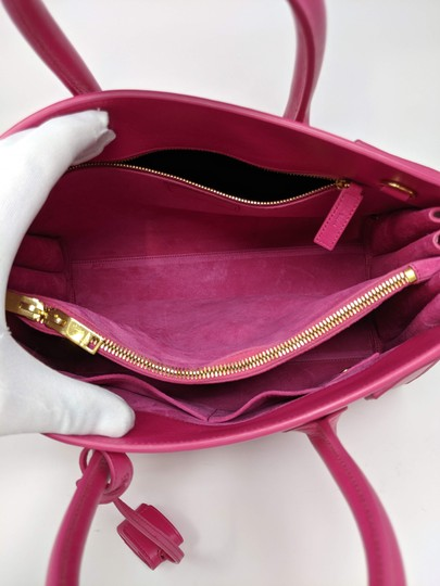 Saint Laurent Sacdejour Ysl Royalblue Small Tote in Pink Image 5