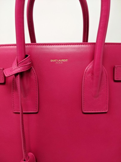 Saint Laurent Sacdejour Ysl Royalblue Small Tote in Pink Image 9