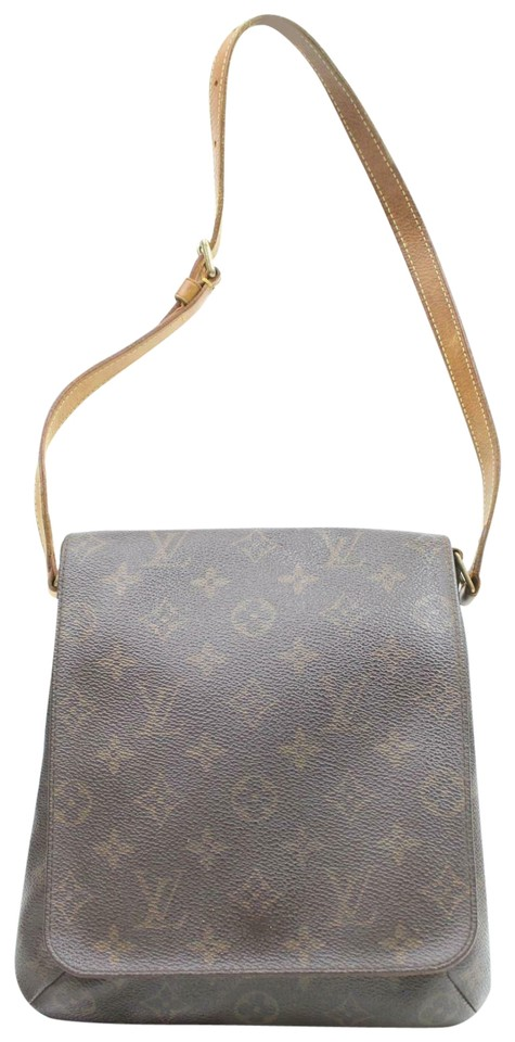 Louis Vuitton Musette Salsa Shoulder M51258 Short 11289 Brown Monogram Canvas Cross Body Bag