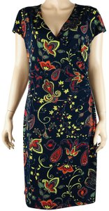 Jones New York short dress Multi Faux Wrap Floral Paisley Multicolor on Tradesy