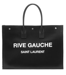 Saint Laurent Summer Canvas Ysl Tote in Black