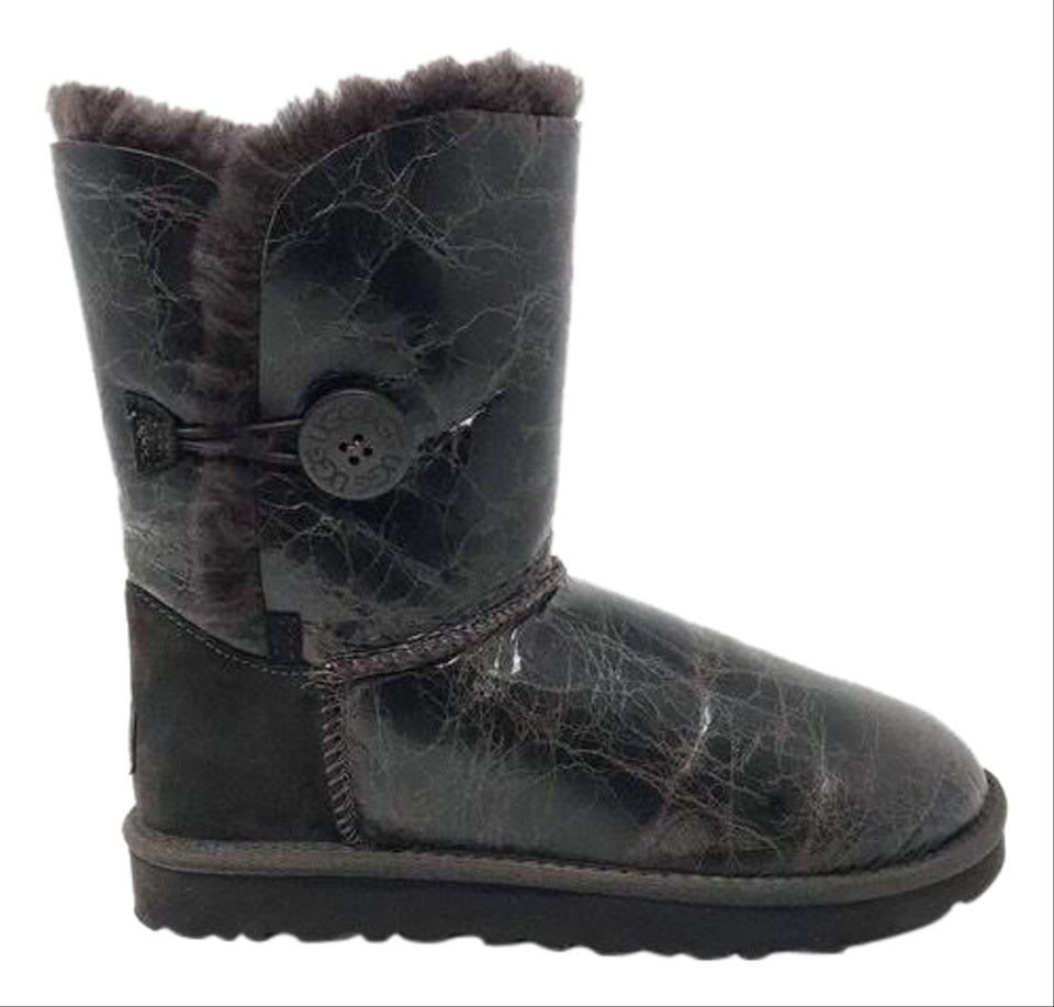 fb60903ecc9 UGG Australia Chocolate Brown Bailey Button Krinkle Leather Dark  Boots/Booties Size US 7 Regular (M, B) 39% off retail