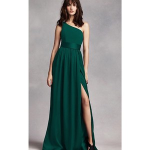 Vera Wang Forest One Shoulder Gown Feminine Bridesmaid/Mob Dress Size 12 (L)
