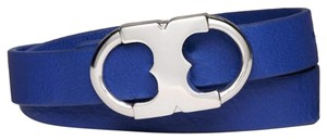 Tory Burch Tory Burch Songbird Blue Gemini Link Double Wrap Bracelet
