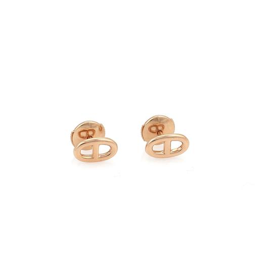 Hermès Chaine D'Ancre 18k Rose Gold Stud Earrings Image 0