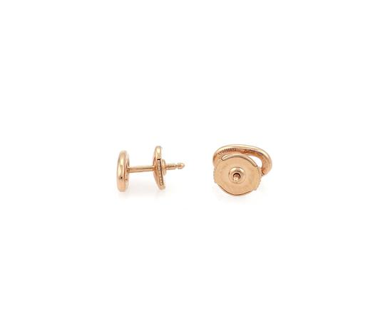 Hermès Chaine D'Ancre 18k Rose Gold Stud Earrings Image 1