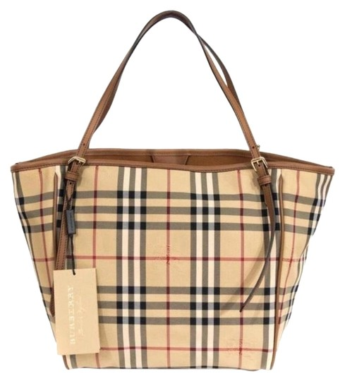 Preload https://img-static.tradesy.com/item/25721275/burberry-horseferry-check-canterbury-tanhoney-canvas-leather-tote-0-1-540-540.jpg