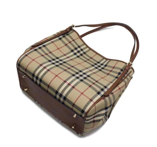 Burberry Check Horseferry Tote in Tan/Honey Image 4