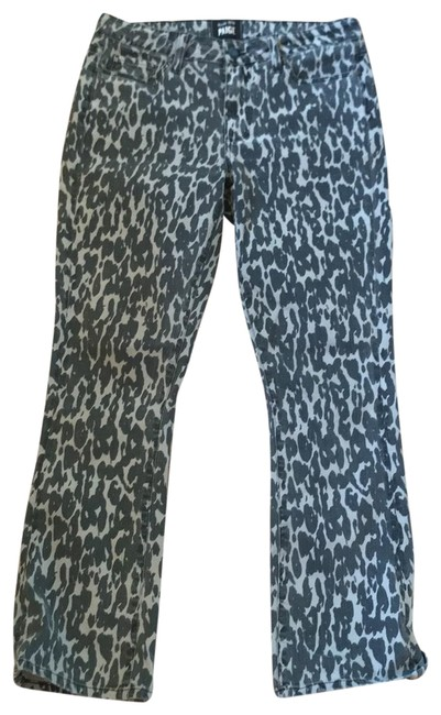 Item - Black and Gray Leopard Rosie Huntington-whiteley For Flare Leg Jeans Size 6 (S, 28)