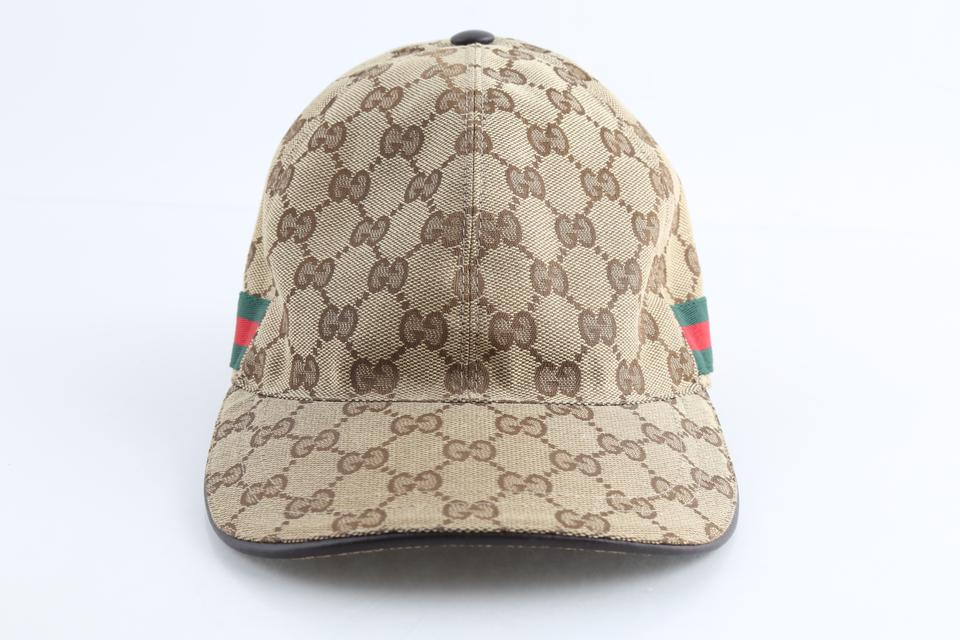 4228c27ac Gucci Brown Gg Canvas Baseball with Web Hat 19% off retail