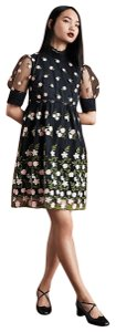 Orla Kiely British Goth Embroidery Lace Party Dress