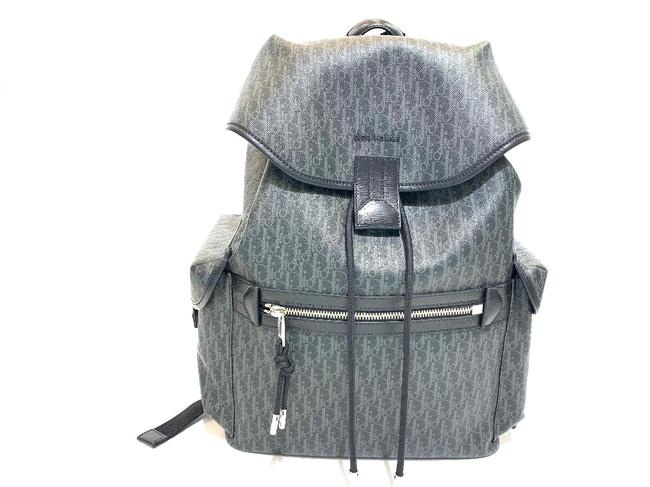 Item - Christian 1dlb050xis Grey Black Leather Backpack