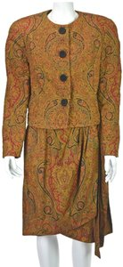 Nipon Boutique & Multi-Colored Silk Paisley Silk Quilted Jacket with Sarong