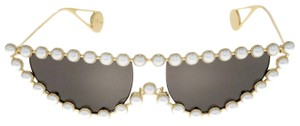 Gucci GUCCI HOLLYWOOD FOREVER 0364 Gold Faux Pearl Cat Eye GG0364S