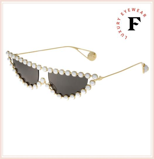 Gucci GUCCI HOLLYWOOD FOREVER 0364 Gold Faux Pearl Cat Eye GG0364S Image 2
