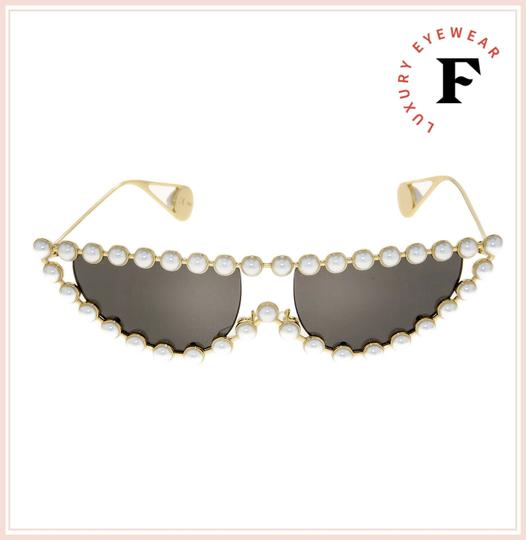 Gucci GUCCI HOLLYWOOD FOREVER 0364 Gold Faux Pearl Cat Eye GG0364S Image 3
