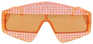 Gucci GUCCI HOLLYWOOD FOREVER 0357 Orange Crystal Unisex Mirrored GG0357S
