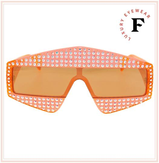 Gucci GUCCI HOLLYWOOD FOREVER 0357 Orange Crystal Unisex Mirrored GG0357S Image 2