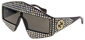 Gucci GUCCI HOLLYWOOD FOREVER 0357 Tortoise Crystal GG0357S