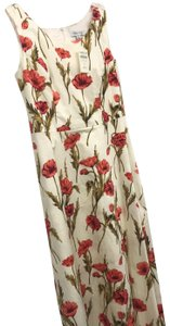 Cream with poppies Maxi Dress by Coldwater Creek