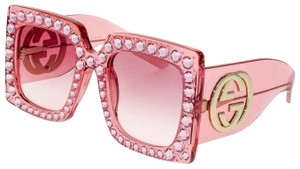 Gucci GUCCI HOLLYWOOD FOREVER 0145 Pink Crystal Stud GG0145