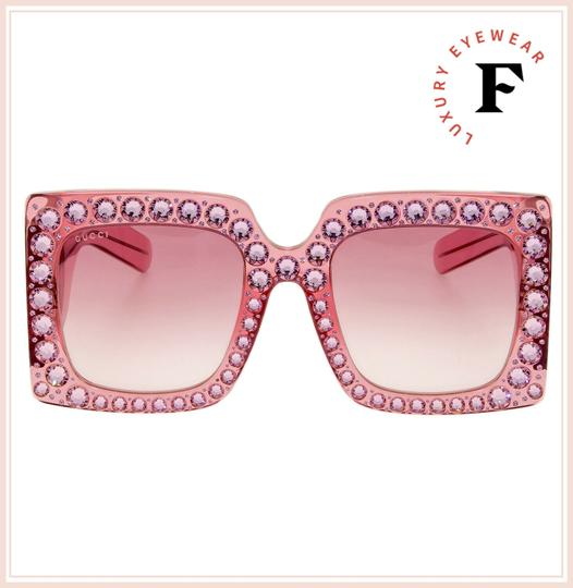 Gucci GUCCI HOLLYWOOD FOREVER 0145 Pink Crystal Stud GG0145 Image 3