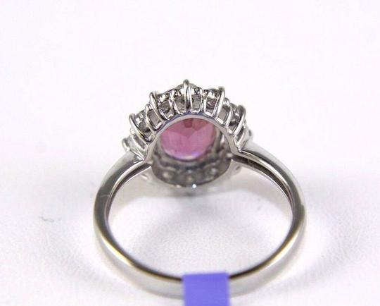 Other Oval Pink Spinel & Diamond Halo Solitaire Ring 14k White Gold 2.29Ct Image 2