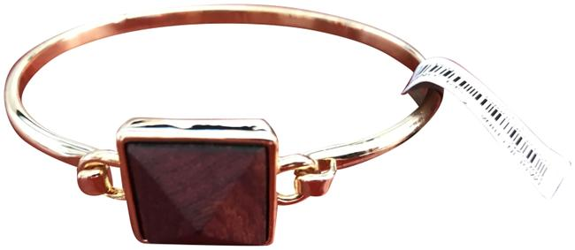 J.Crew Brown Gold Wood Detail Cuff B5174 Bracelet J.Crew Brown Gold Wood Detail Cuff B5174 Bracelet Image 1