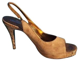 Donald J. Pliner Camel Brown Tan Platforms