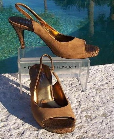 Donald J. Pliner Camel Brown Tan Platforms Image 1