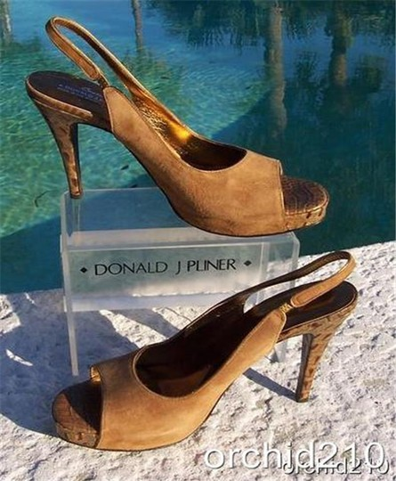 Donald J. Pliner Camel Brown Tan Platforms Image 2
