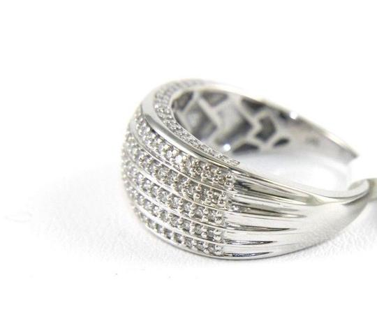 Other Round Diamond 5 Row Cluster Ladys Cigar Ring Band 14k White Gold .50Ct Image 2