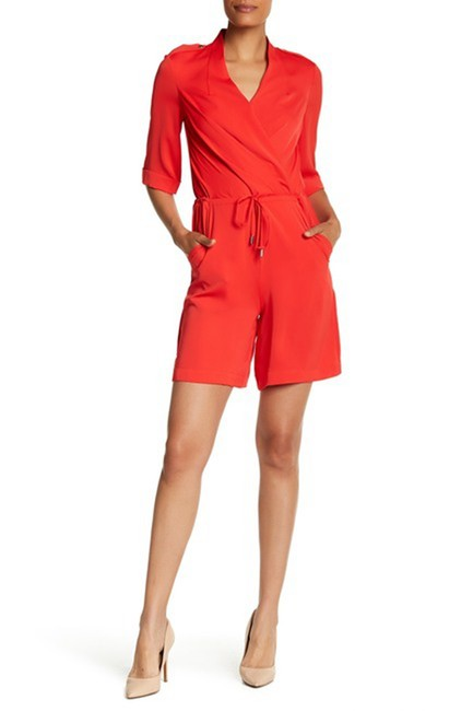 Item - Red Fluid Surplice 8 Romper/Jumpsuit