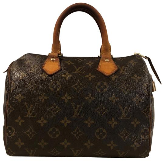 Preload https://img-static.tradesy.com/item/25722320/louis-vuitton-speedy-2006-25-in-awesome-condition-brown-cowhide-leather-and-canvas-satchel-0-1-540-540.jpg