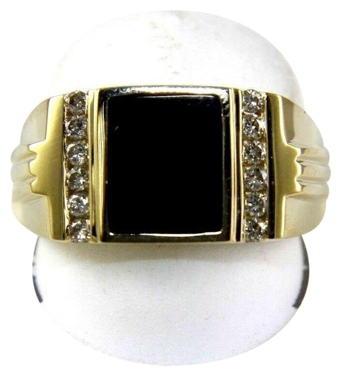 Preload https://img-static.tradesy.com/item/25722366/black-square-onyx-and-diamond-men-s-solitaire-14k-yellow-gold-25ct-ring-0-1-540-540.jpg