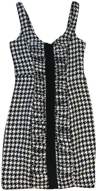 Tracy Reese Black & Cream Frock Claire Houndstooth Short Casual Dress Size 4 (S) Tracy Reese Black & Cream Frock Claire Houndstooth Short Casual Dress Size 4 (S) Image 1