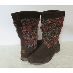 TOMS Brown Pink Boots