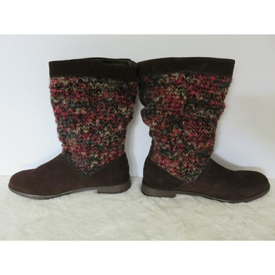 TOMS Brown Pink Boots Image 1
