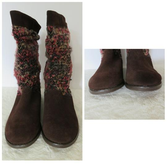 TOMS Brown Pink Boots Image 2