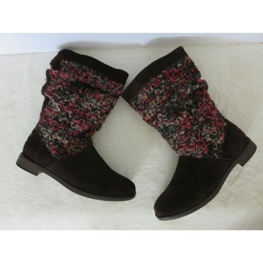TOMS Brown Pink Boots Image 3