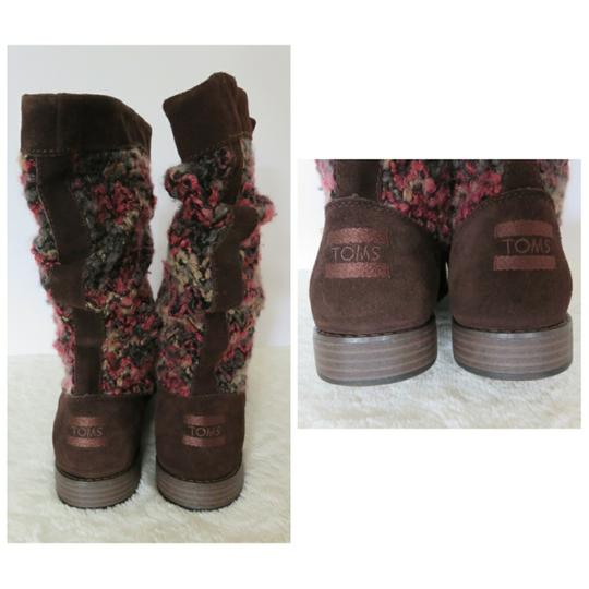 TOMS Brown Pink Boots Image 4